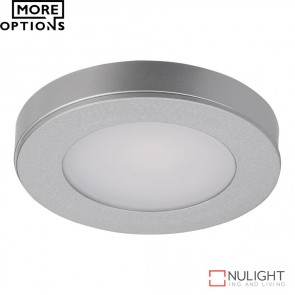 Astra Round 12V 3.6W Led Cabinet Light Silver Finish Led DOM