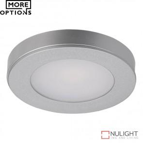 Astra Round 12V 3.6W Led Cabinet Light Silver Finish Led DOM