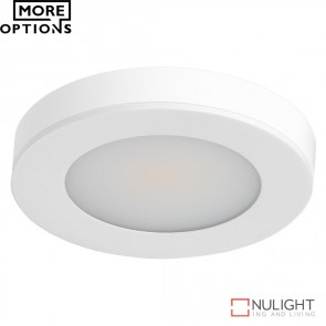 Astra Round 12V 3.6W Led Cabinet Light White Finish Led DOM