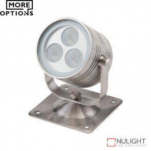Fluid Flood 60 1224V 3W Led Floodlight Stainless Steel Led DOM