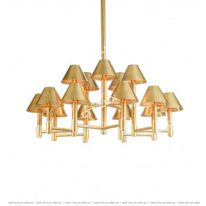 American Full Copper Cover Metal MultiTier Chandelier Citilux