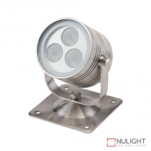 Fluid Flood 60 1224V 6W Led Floodlight Stainless Steel Finish Rgb Led DOM