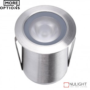 Point 2 Wide Beam 1224V 1W Led Inground Light Stainless Steel Finish Led DOM