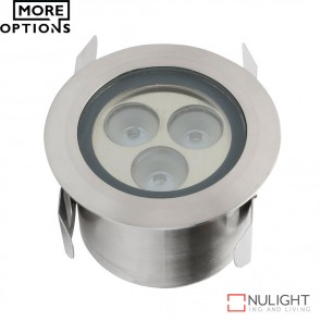 Shine Wide Beam 1224V 3W Led Inground Light Stainless Steel Finish Led DOM