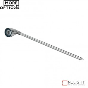 Emit Wide Beam 1224V 1W Led Garden Spike Light Stainless Steel Finish Led DOM
