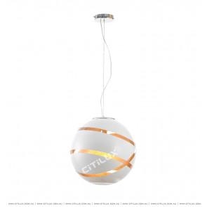 Modern Round Change Line Cut Light Chandelier White Citilux