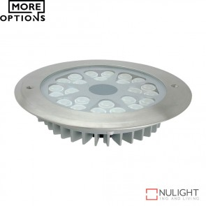 Fusion 2 High Power 24V 24W Led Inground Light Stainless Steel Fascia Led DOM