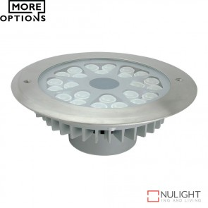 Fusion 2 High Power 240V 24W Led Inground Light Stainless Steel Fascia Led DOM