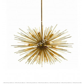 Spiky Gold Pendant Light Citilux