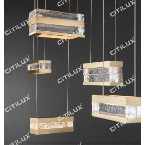 Metal Ice Block Chandelier Citilux