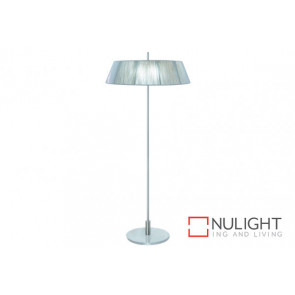 Paolo 2 Light Floor Lamp Silve VAM