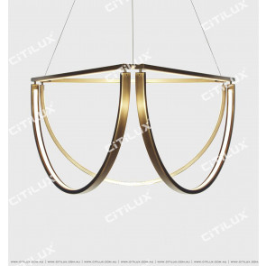 Pre-Sold Minimalist Metal Curved Led Four-Head Chandelier Citilux