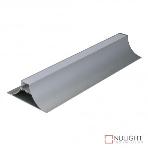 V Line Surface Suspended Led Profile Natural Clear Anodised Finish Opal Diffuser DOM