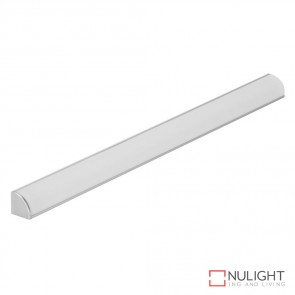 Q Line Mini Surface Mounted Led Profile Natural Clear Anodised Finish Opal Diffuser DOM
