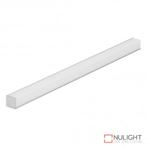 Quad Line Mini Surface Mounted Led Profile Natural Clear Anodised Finish Opal Diffuser DOM