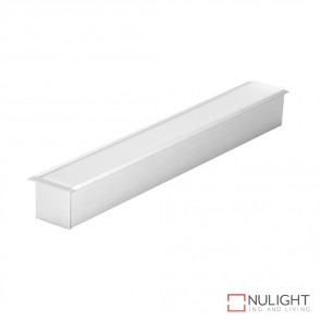 Omega 35 Rec Recessed Led Profile Natural Clear Anodised Finish DOM