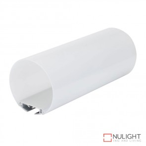 Pipeline 120 Suspended Led Profile Natural Clear Anodised Finish Opal Diffuser DOM