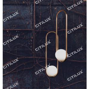 Modern U-Shaped Milk Glass Ball Single Head Chandelier Citilux