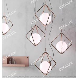 Minimalist Geometric Line Pearl Single Head Chandelier Citilux