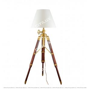 Modern American Tripod Fabric Floor Lamp Citilux