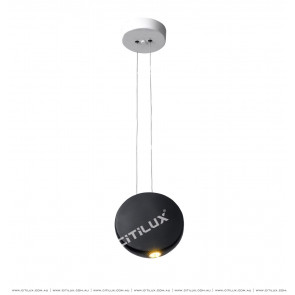 Nordic Matt Black Round Semi-Decorative Chandelier Citilux