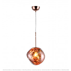Symphony Crimson Orange Glass Chandelier Small Citilux