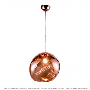 Symphony Crimson Orange Glass Chandelier Large Citilux