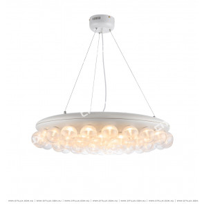 Modern Semi-Matte Ball Combination Disc Chandelier Citilux