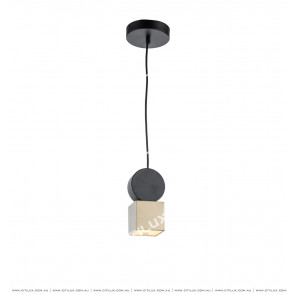 Minimal Geometry Combination Single Head Chandelier Small Citilux