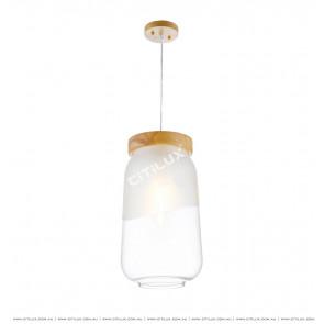 Modern Jane European Semi-Matte Glass Single Head Chandelier Large Citilux