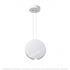 Nordic Matt White Round Semi-Decorative Chandelier Citilux