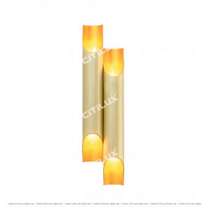 Champagne Inner Gold Double Head Strip Wall Light Citilux