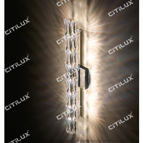 Crystal Cylinder Simple Modern Wall Lamp Long Section Citilux