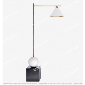 American Copper White + Copper Dimension Cover Floor Lamp Citilux