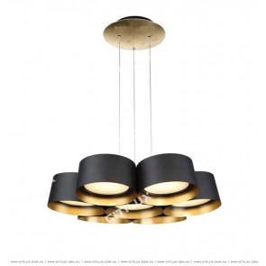 Nordic Modern Multi-Head Combination Chandelier In Black Citilux
