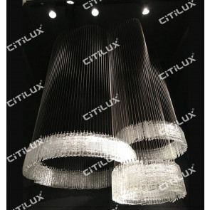 Modern Minimalist Hand-Made Glass Ring Combination Chandelier, Can Be Customized Citilux