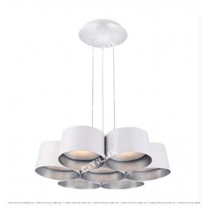 Nordic Modern Multi-Head Combination Chandelier In White Citilux