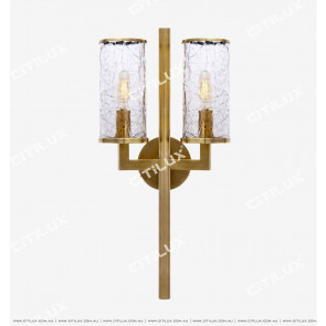 Vc Full Copper Crack Glass Wall Light Citilux
