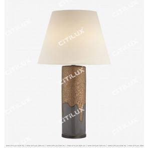 Ceramic Glazed Column Shape American Table Lamp Citilux