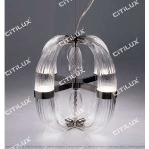 Modern Transparent Ring Glass Single Chandelier Citilux