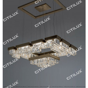 Modern Crystal Combination Stainless Steel Chandelier Citilux