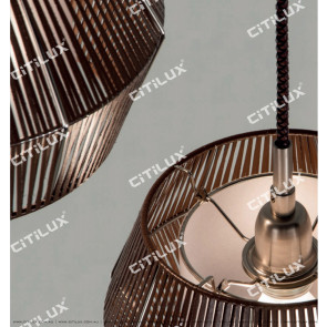 New Chinese Leather Single Head Chandelier Citilux