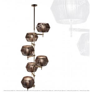 New Chinese Leather Staircase Chandelier Citilux