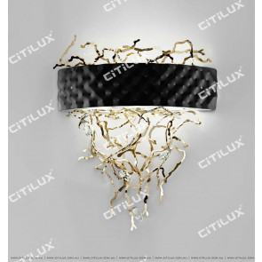 Metal Plaque Vine Wall Lamp Citilux