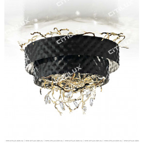 Metal Embossed Vine Ceiling Lamp Citilux