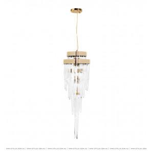 Modern Light Luxury Ice Glass Round Chandelier Citilux