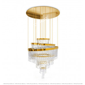 Modern Light Luxury Ice Glass Hollow Chandelier Citilux
