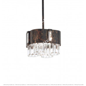 Rust Spotted Crystal Small Chandelier Citilux