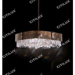 Rust Spotted Crystal Chandelier Citilux