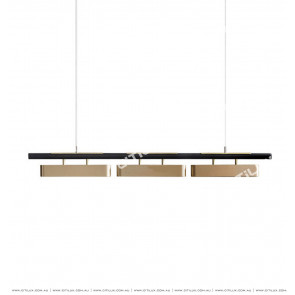 Modern Minimalist Metal Texture Long Dining Chandelier Citilux